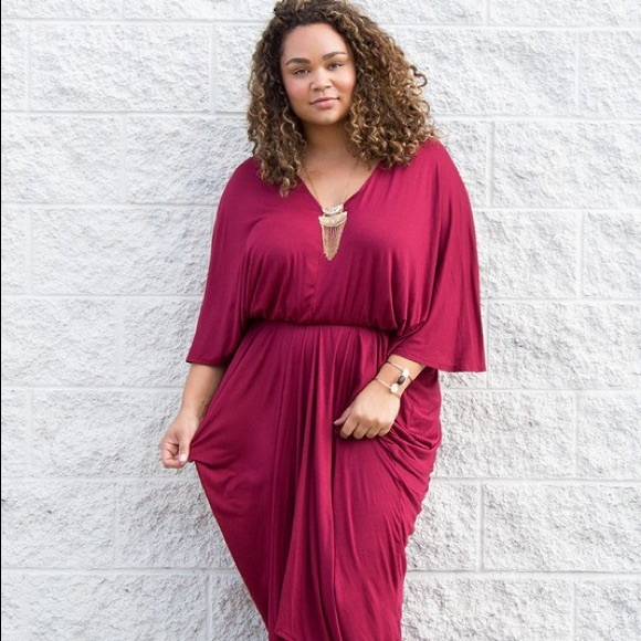 Plus Size Goddess Dress in Magenta Boutique